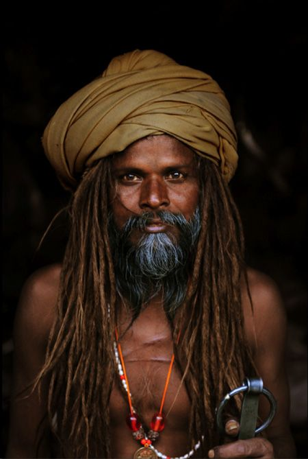 Sadhu, Kumbh Mela Festival, 2010,  photo by Steve McCurry (please repin with photographer's credits)