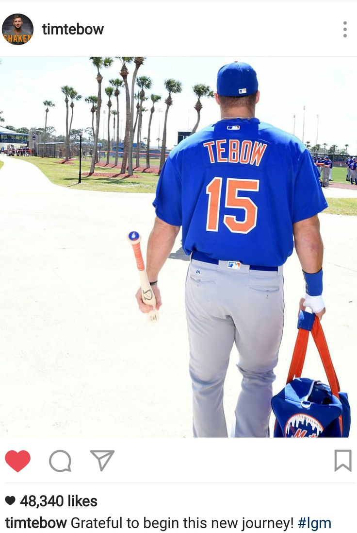 Tim Tebow Instagram  2.27.17 -  NY Mets