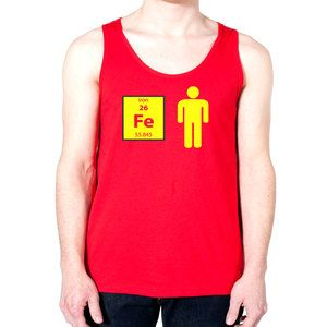 Fe Iron Tank Unisex, $20, now featured on Fab.