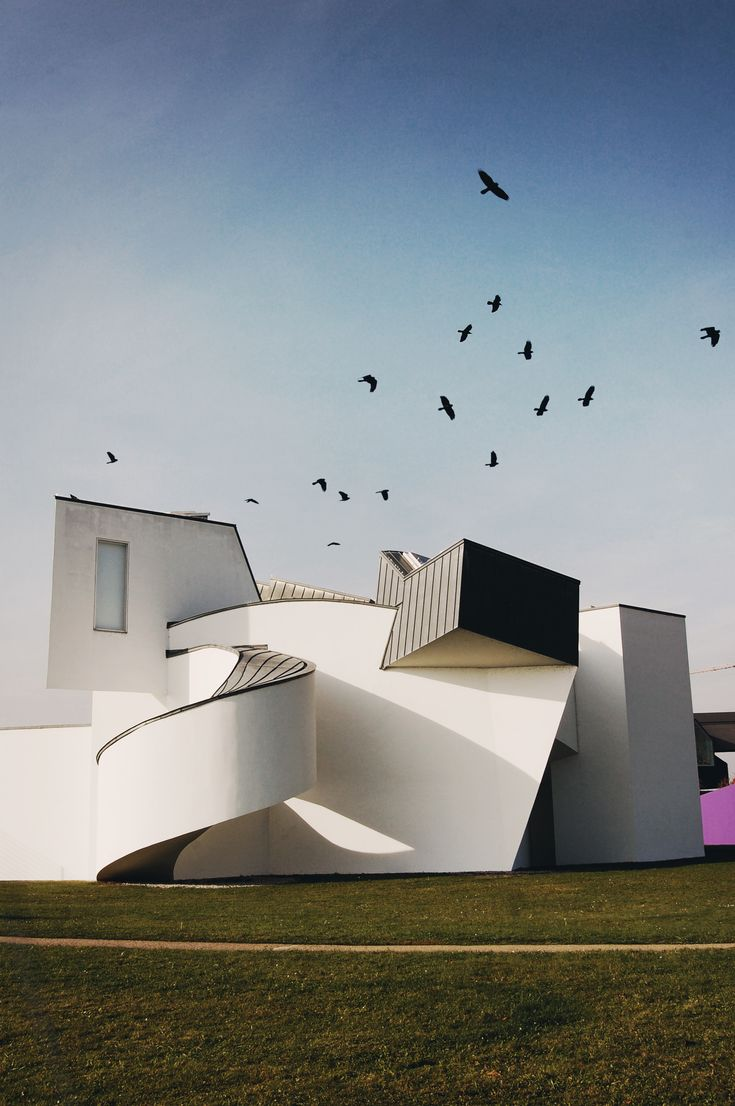 Vitra Design Museum by Frank O'Gehry with birds