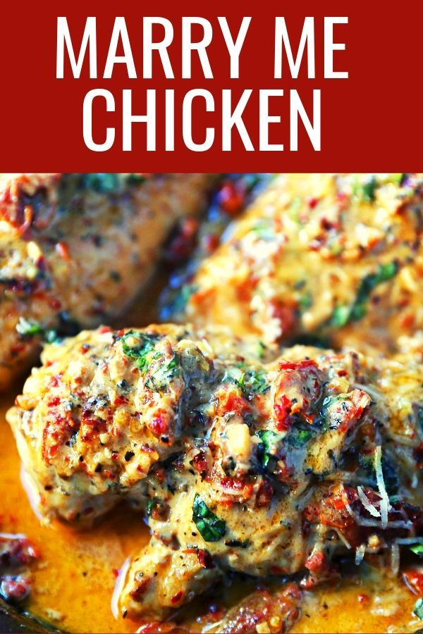 Marry Me Chicken. Famous skillet chicken in a sundried tomato parmesan cream sau…