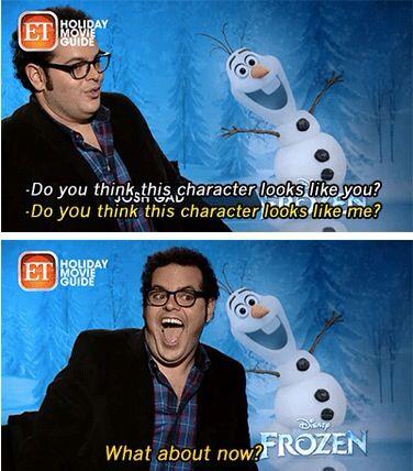 Does Josh Gad look like Olaf? Funny frozen meme