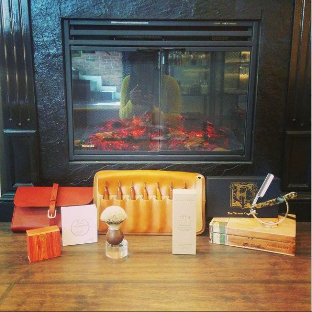 Gentleman's day is everyday at MenEssentials.  #fireplace #straightrazor #Toronto #shavecream #CedarWoodSoap #shavekit #doppbag #Dovo #dovostraightrazors #Trumper #cigar #cigarbox #shavesets #vintage  #LookandFeelAwesome #mensgrooming #shaving