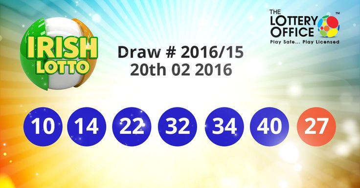 Irish Lotto winning numbers results are here. Next Jackpot: €6.5 million #lotto #lottery #loteria #LotteryResults #LotteryOffice