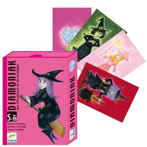 Engeltjes & Draken | Djeco | Diamoniak (5+) Griezelig heksen kaarten spel 'diamoniak' Dit spel vraagt om avonturiers met strategisch inzicht! Bedenk je eigen strategie om zo snel mogelijk je kasteel te bouwen, voor de toverkollen je beheksen. Elk spel bevat 54 kaarten. #djeco #kaartspel #spelletje #diamoniak #heksenspel #halloween #gezelschapsspel