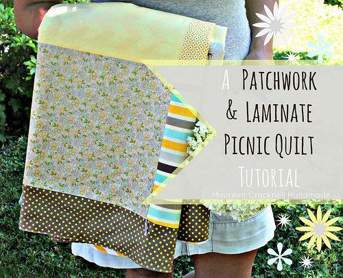 A+Patchwork+&+Laminate+Picnic+Quilt+Tutorial