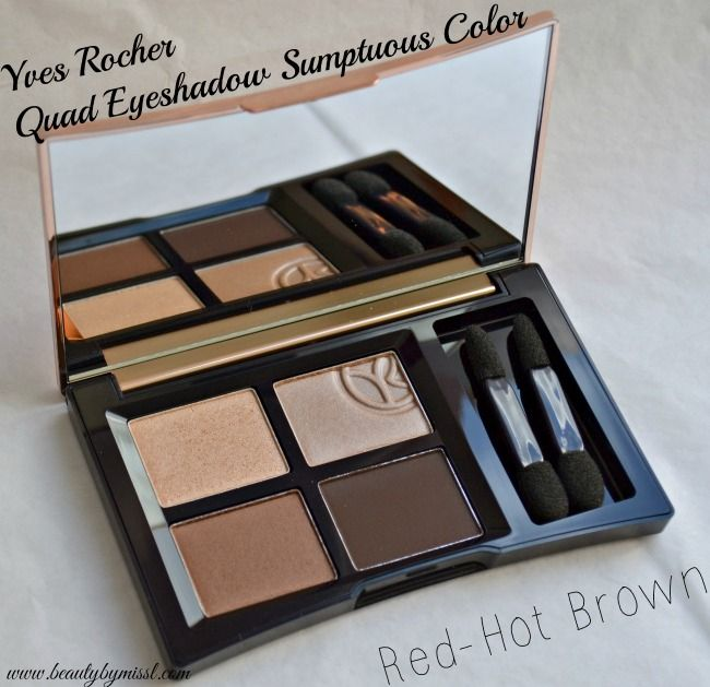 Yves Rocher Quad Eyeshadow palette - Red-Hot Brown via @beautybymissl