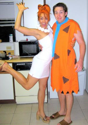 13 DIY Halloween Costumes For Adults: DIY Fred and Wilma From The Flintstones Costume