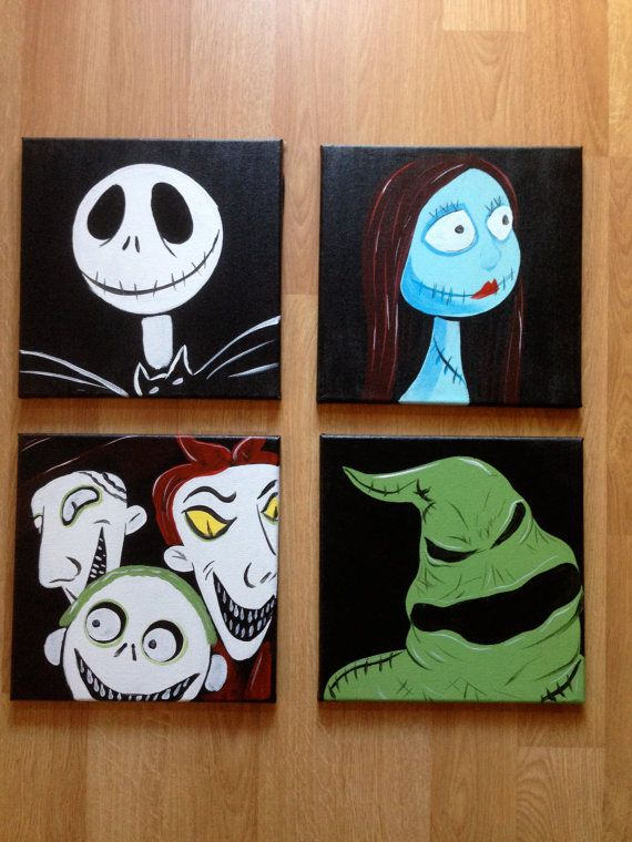 Hey, I found this really awesome Etsy listing at https://www.etsy.com/listing/265284616/nightmare-before-christmas-canvas
