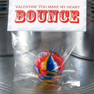 bouncy ball valentine | Valentine's ideas | Pinterest