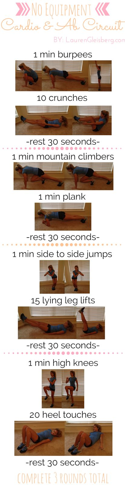 WORKOUT WITH ME WEDNESDAY: No Equipment Cardio & Ab Circuit