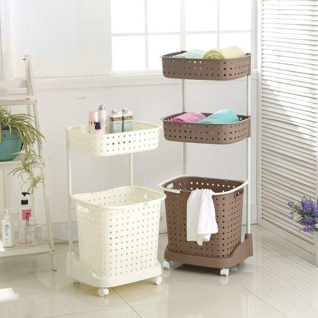 Японский стиль Большие пластиковые корзины для белья и прачечная корзина хранения грязная одежда корзина для белья ведро прачечная хранения корзины