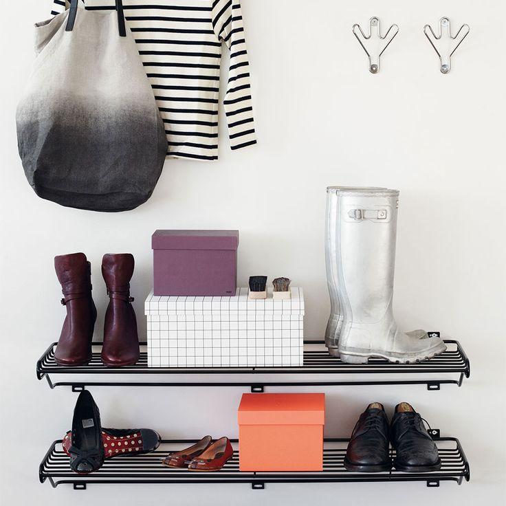 Shoe Shelf L Kenkähylly, Musta - Olof Kolte - Maze - RoyalDesign.fi