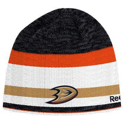 Anaheim Ducks Reebok Center Ice Heathered Team Beanie - Black/Orange