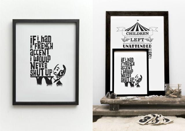 Póster Oh la la Print de One Must Dash. ¡Dale una nueva imagen a tu casa! #oneMustDash #poster #lamina #print #artPrint #decoration #decoracion #estiloescandinavo #scandinavian #estilonordico