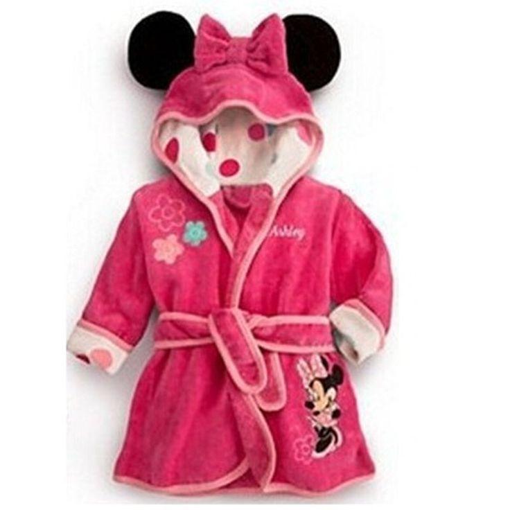 Herbst winter cartoon jungen nachtwäsche mädchen robe Baby bademantel baby kapuzenhandtuch robe hohe qualität kinder Badeanzüge