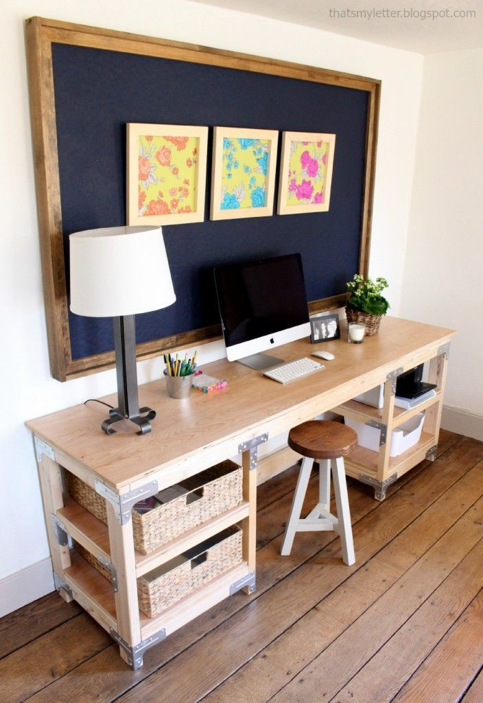 For the office/garage - Ana White   Build a DIY Desk Workbench   Free and Easy DIY Project and Furniture Plans