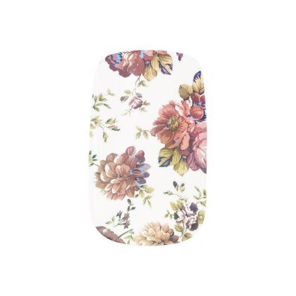 Vintage Garden Nail Wraps - vintage wedding gifts ideas personalize diy unique style