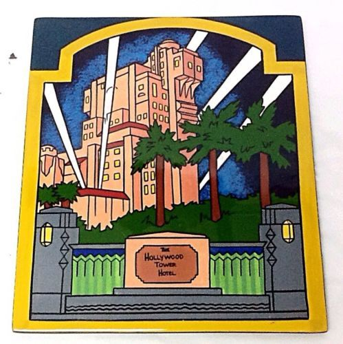 Rare-Walt-Disney-Disneyland-Promo-The-Hollywood-Tower-Hotel-Ceramic-Plaque