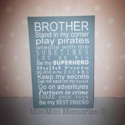 BROTHER Quote Board... www.moomoo-memories.co.uk