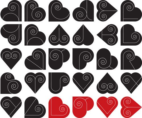 Beautiful heart alphabet by Thomas Fuchs