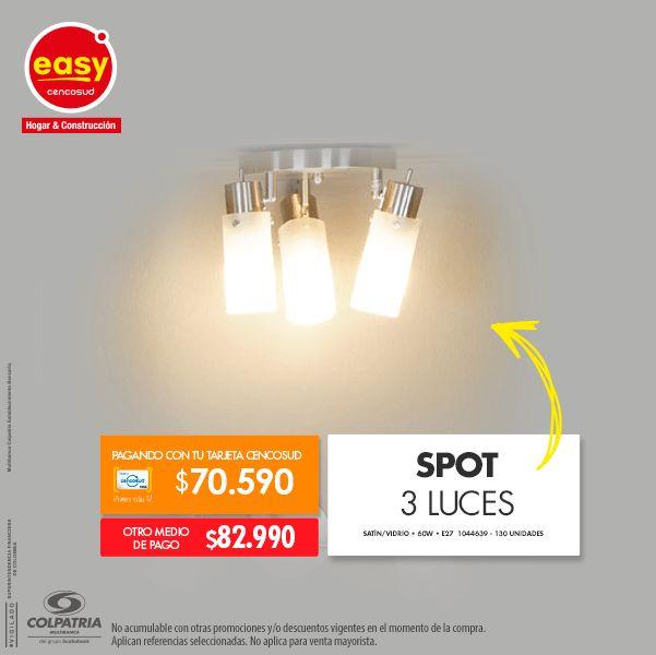 Spot 3 Luces • Satín/Vidrio • 60W • E27 1044639