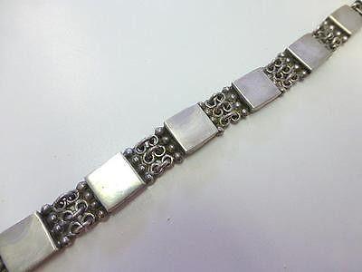 Modernist Rectangle BEAD LINK Sterling Silver TV 121 Bracelet Mexico Taxco