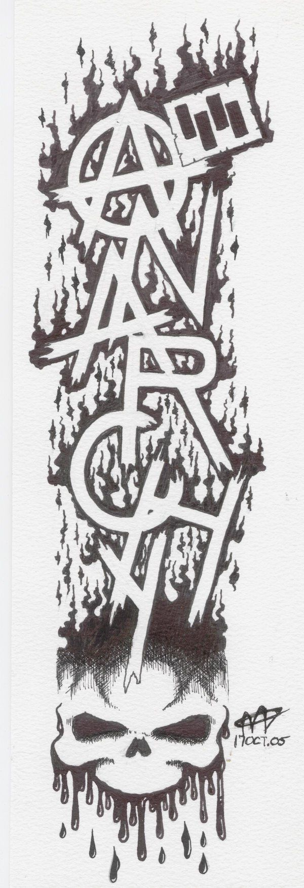 Sons of Anarchy Symbol | Sons Of Anarchy Tattoo Outline Designs