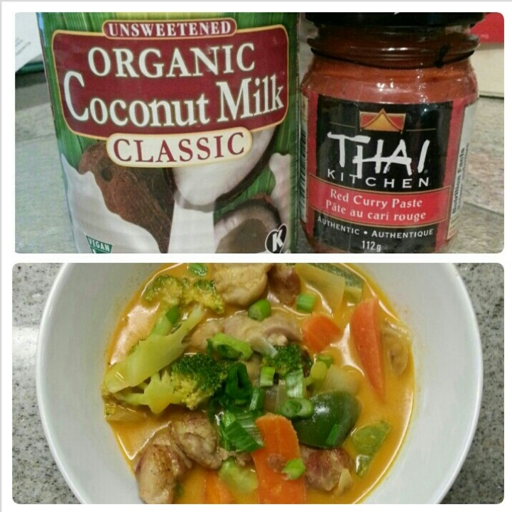 Easy Peasy Red Thai Chicken Curry.