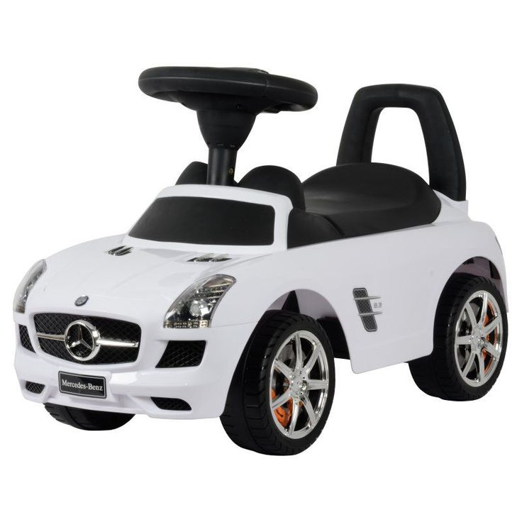 Best Ride On Cars Mercedes Benz Car Riding Push Toy White - MERCEDES PUSH CAR WHITE