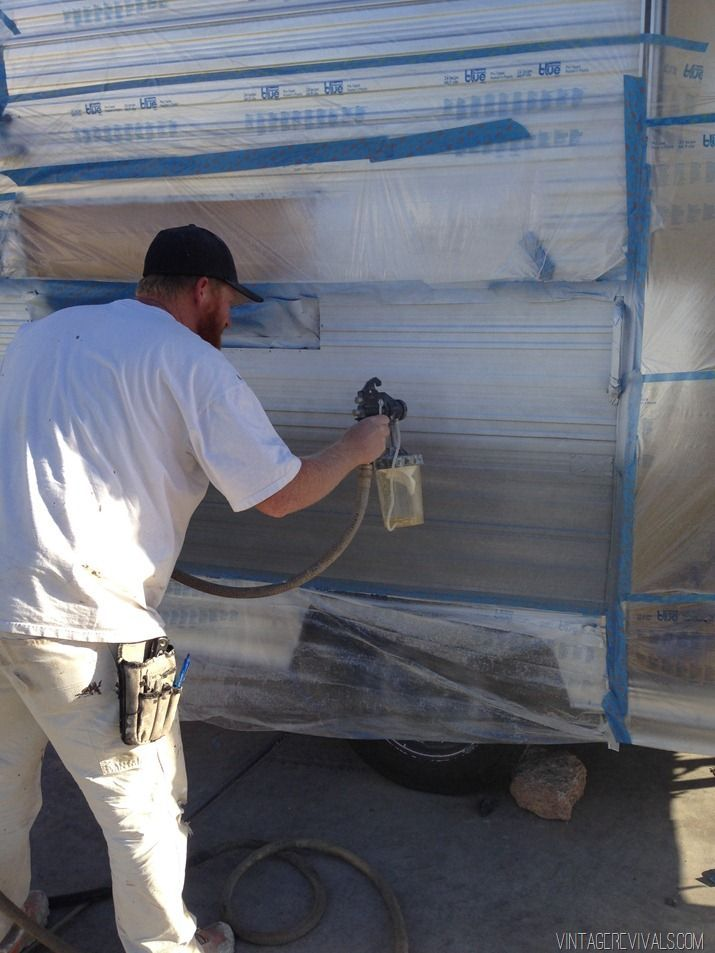 The Nugget How To Paint The Exterior Of A Trailer Camper Makeover Trailer Decor Camper