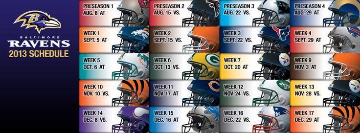 2013-2014 Raven's schedule