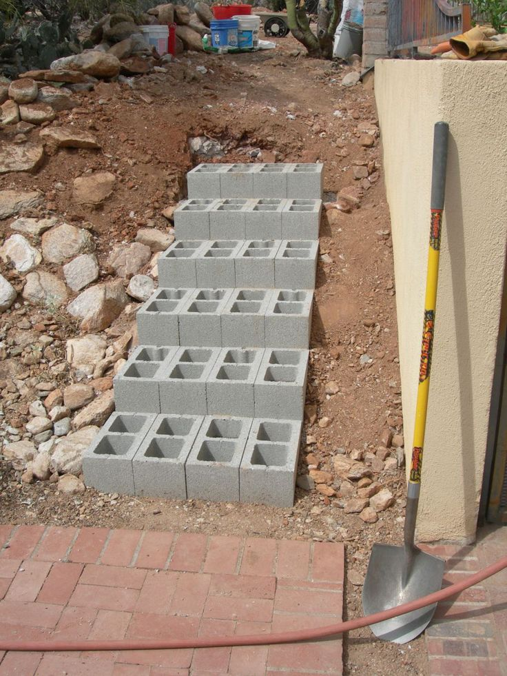 Concrete steps for path - how to