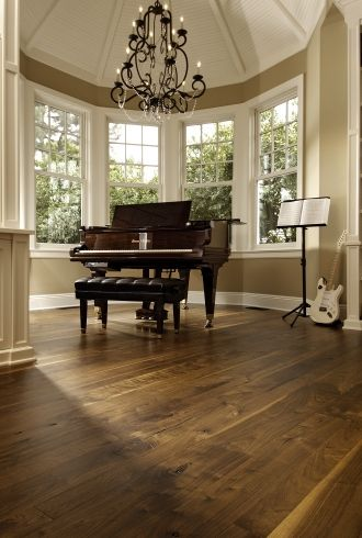 Walnut Music Room | Carlisle Wide Plank Flooring