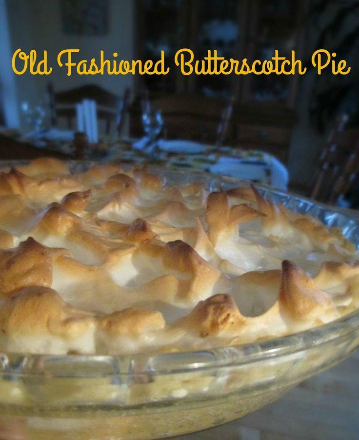 Just my Stuff: Old Fashioned Butterscotch Pie