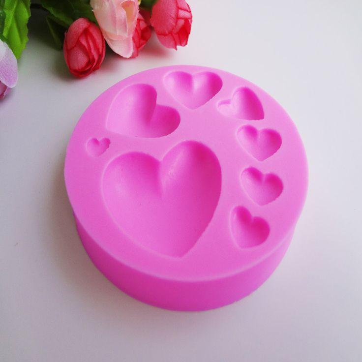 M174 новый 8 различных любовь в форме сердца торта силикона, Фондант торт украшение инструменты для укладки, Формы для выпечки, Инструменты для приготовления пищи купить на AliExpress