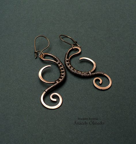 Wire wrapped jewelry - Earrings