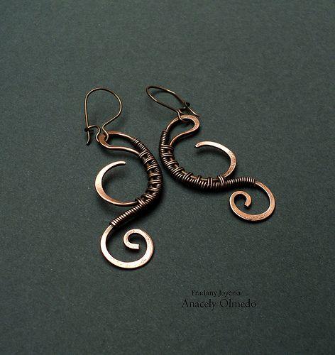 Wire wrapped jewelry - Earrings