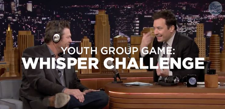 Need a new game for your Youth Ministry? This one from Jimmy Fallon is pretty great, and seems super easy to recreate, regardless of your group size.