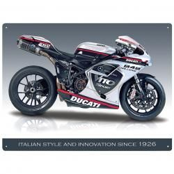 DUCATI 848 EVO Metal Wall Sign by Red Hot Lemon
