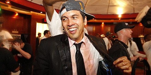 Erik Spoelstra after the big win.