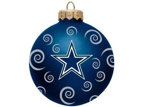 Dallas Cowboys NFL Team Color Swirl Ornament 3″ New
