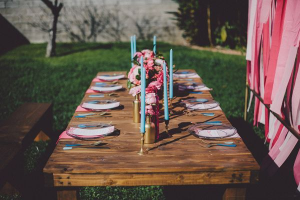 Ruffled® | Hot Pink and Blue Wedding Ideas
