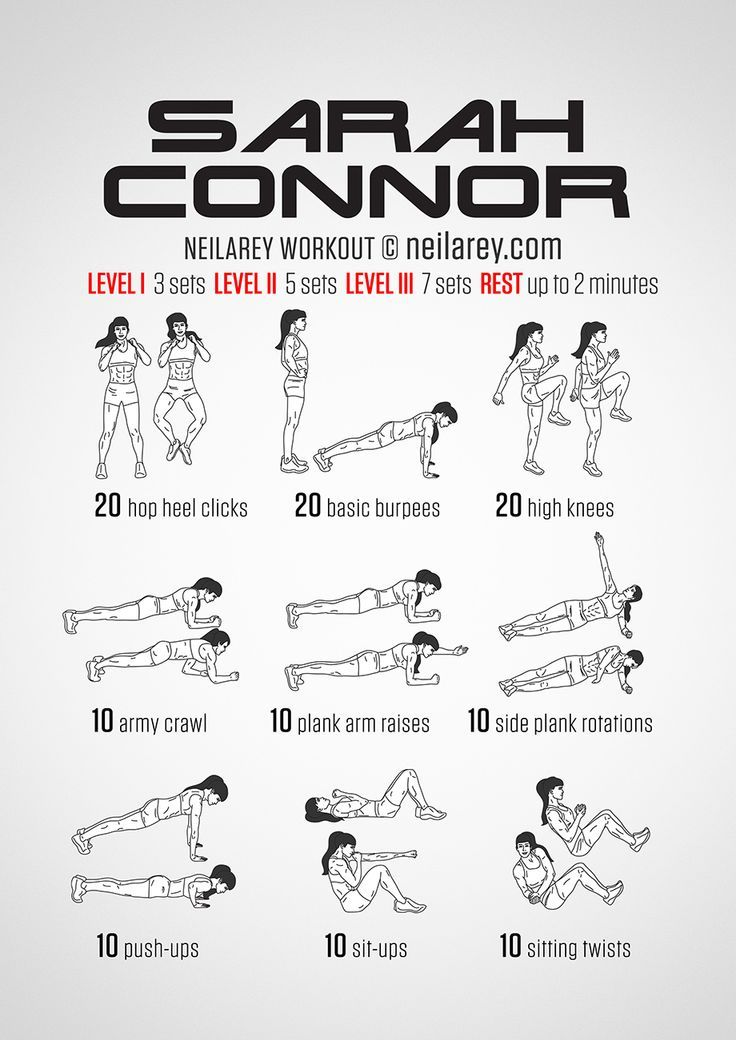 Instructions: Repeat each move with no rest in between until the set is done, rest up to 2 minutes and repeat the whole set again 3, 5 or 7 times depending on your fitness level. Netflix TV Workouts, TV Workout Games