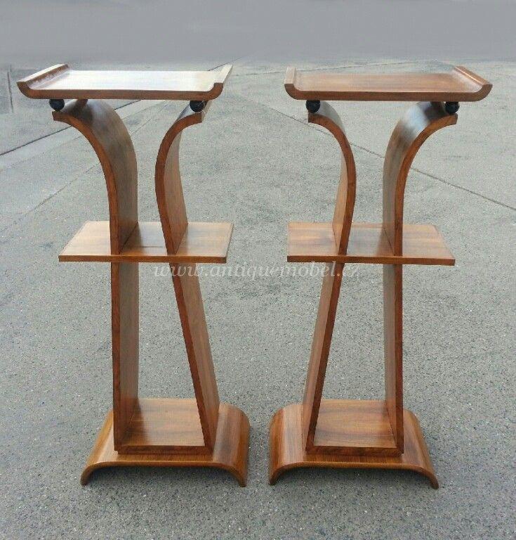 dva sloupy Art Deco Mikšík
