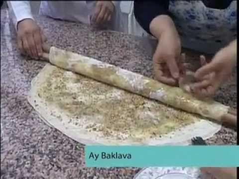 Hanımeli - Bir yemek Bir tarif - Ay Baklava - YouTube