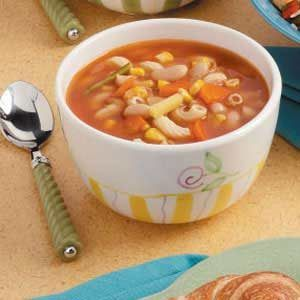 MACARONI SOUP RECIPE WITH VEGETABLES