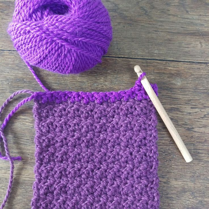 Drops Andes crochet scarf