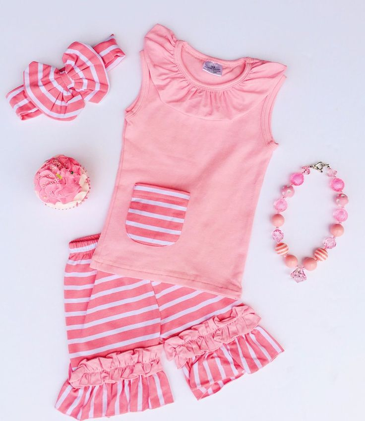 Samantha Stripe Short Set - PINK #boutique-outfits #clearance #daily-deal #daily-deals #new #perfect-sets #spring-line