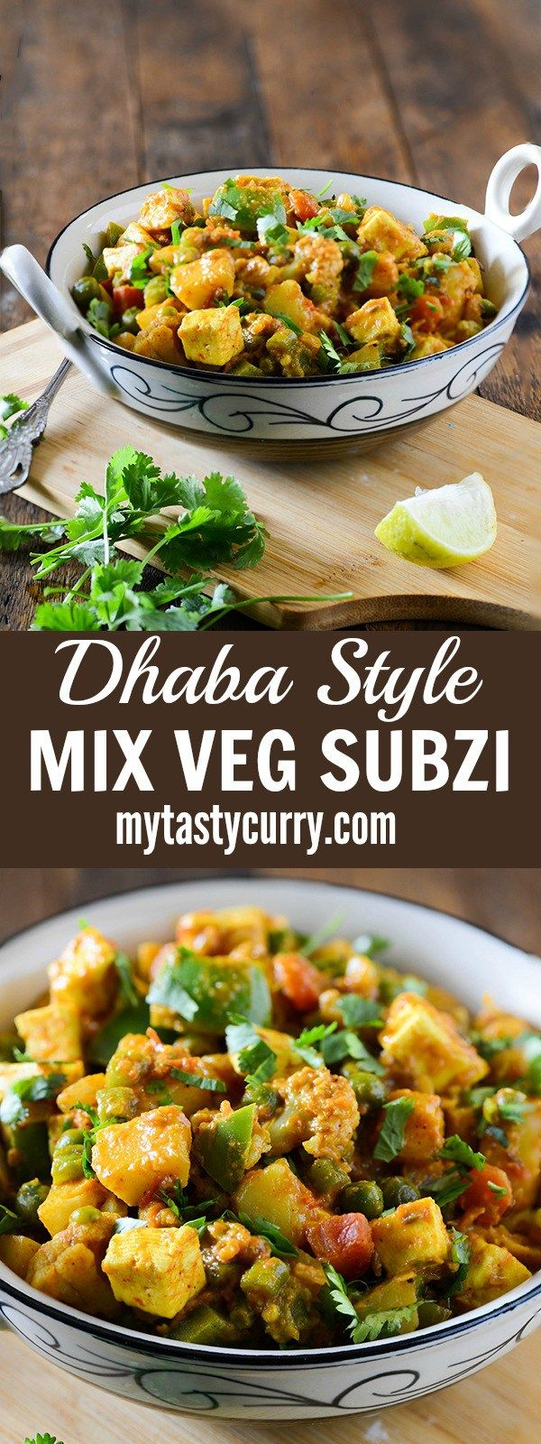 Mix Vegetable Curry or Sabzi is a delicious and rich dhaba style sabzi/curry to serve with chapati, paratha or Naan. A very simple reciple, but it makes for a rich, hearty and creamy curry.